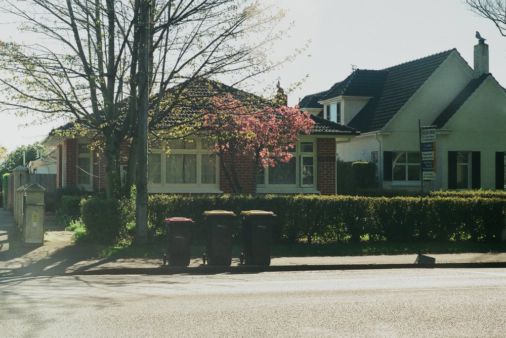 Rubbish collection day - my first photo shot with the Zenit