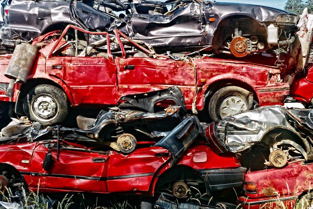 Urban grunge - Cars in an Invercargill wrecker's yard