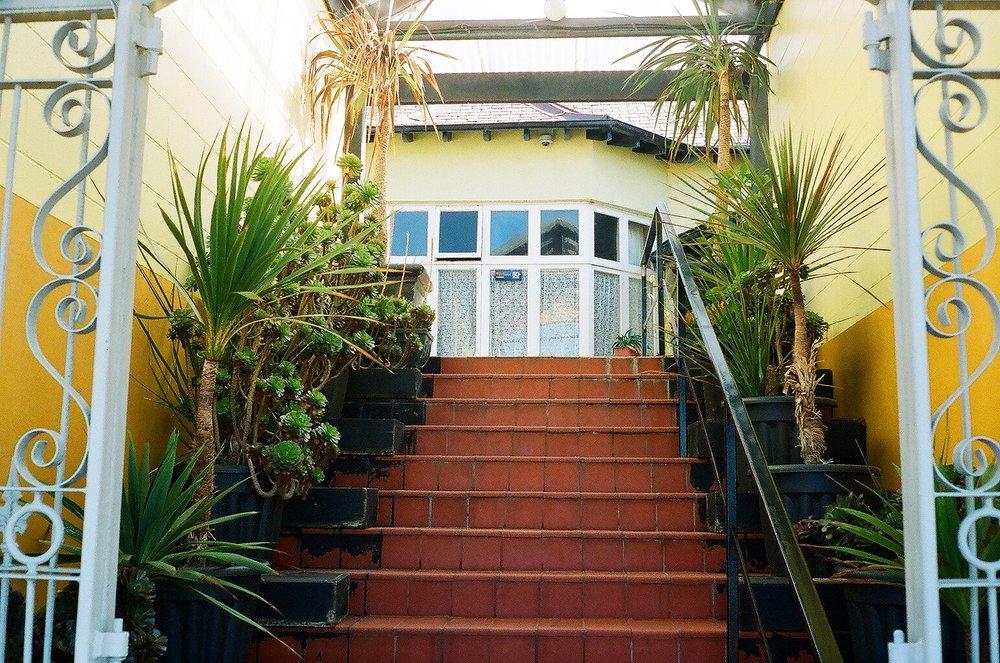 Entrance to apartments, St Claire, Dunedin