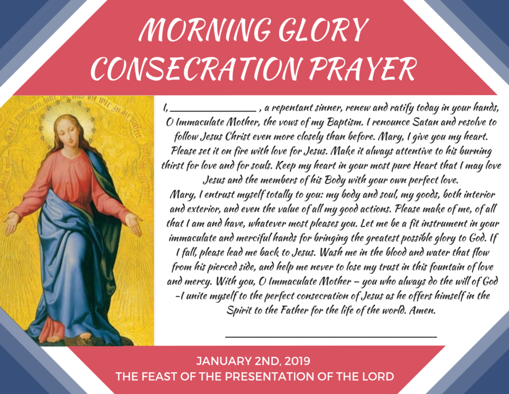 """Click to download """"Morning Glory Consecration Prayer"""""""