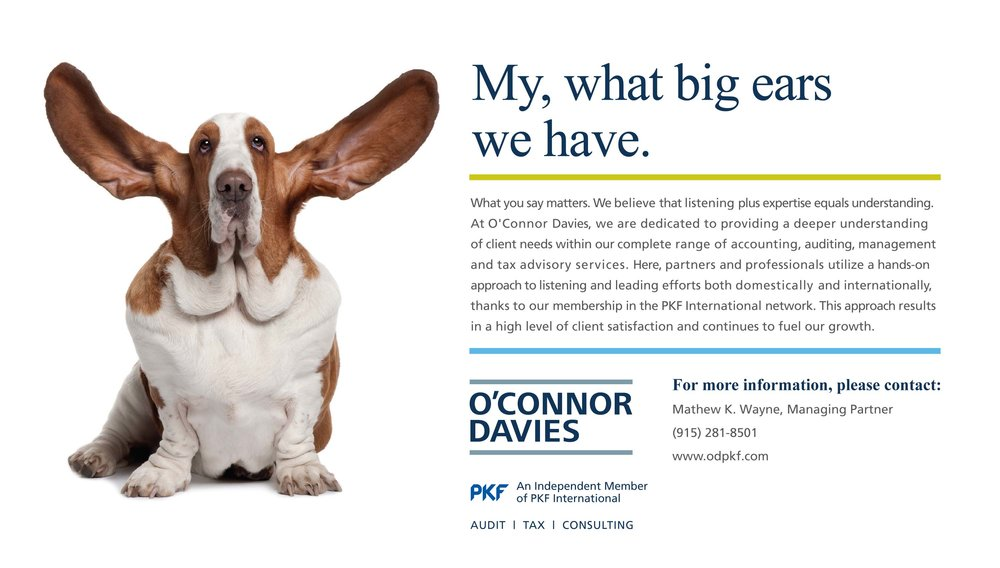 O'CONNOR DAVIES - MY, WHAT BIG EARS WE HAVE