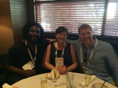 Having lunch with authors Jason Reynolds and Brendan Kiely at ALA 2016.  Wow!