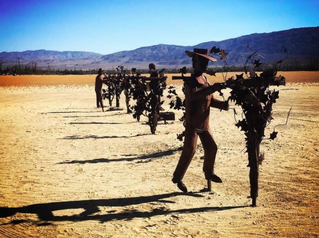 Farm workers sculpture, Anza-Borrego Desert. Photo Credit: Tina Shull