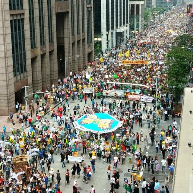 Peoples Climate March, 2014. Photo Credit: CultureStrike on Instagram