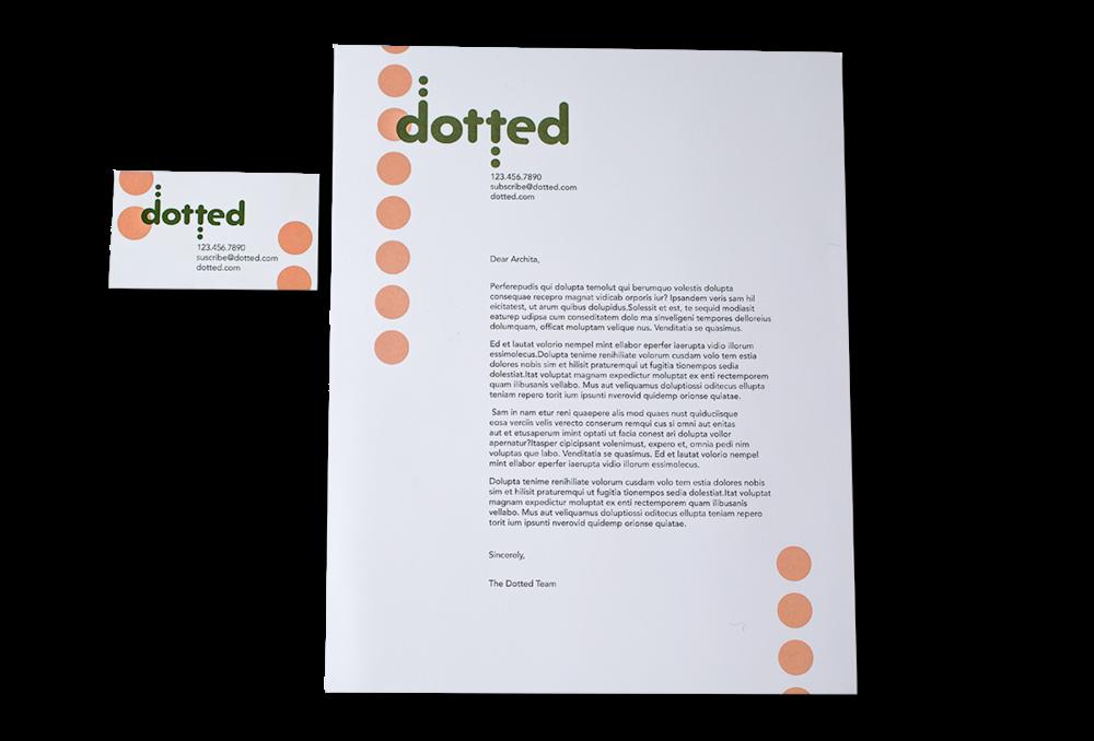 letterhead & business card I created
