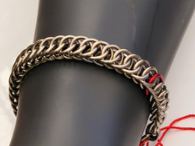 Barber Bracelet by Chain Male - Available in Stainless Steel, Blackened Steel, Stainless and Blackened Steel. Or add an accent color!