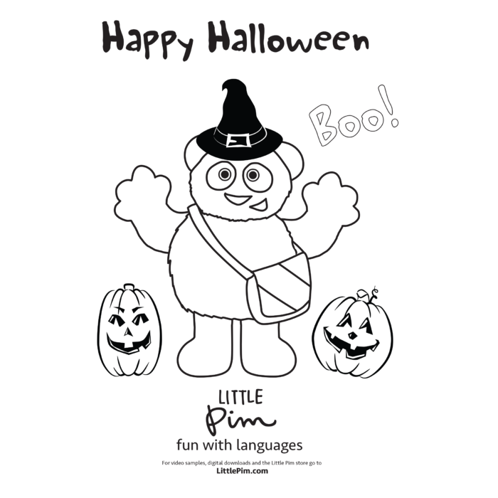 Kids Activities Little Pim Halloween Coloring Pages Little Pim