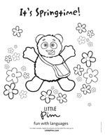 Little Pim Spring Coloring Page