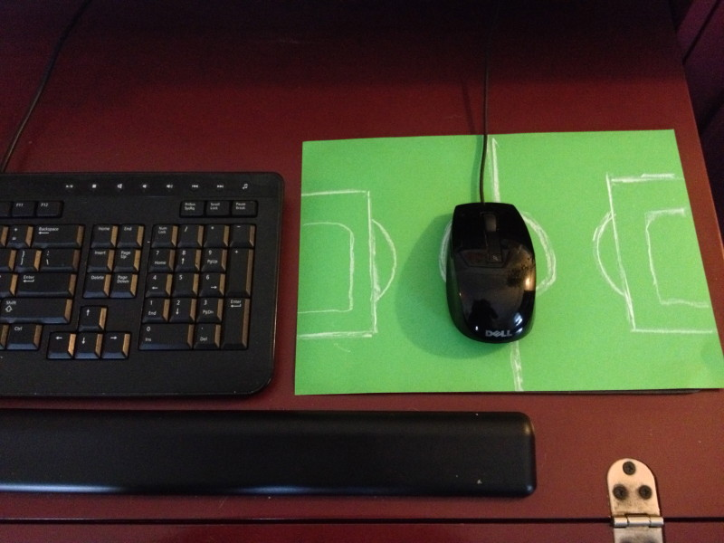 soccer crafts - mousepad