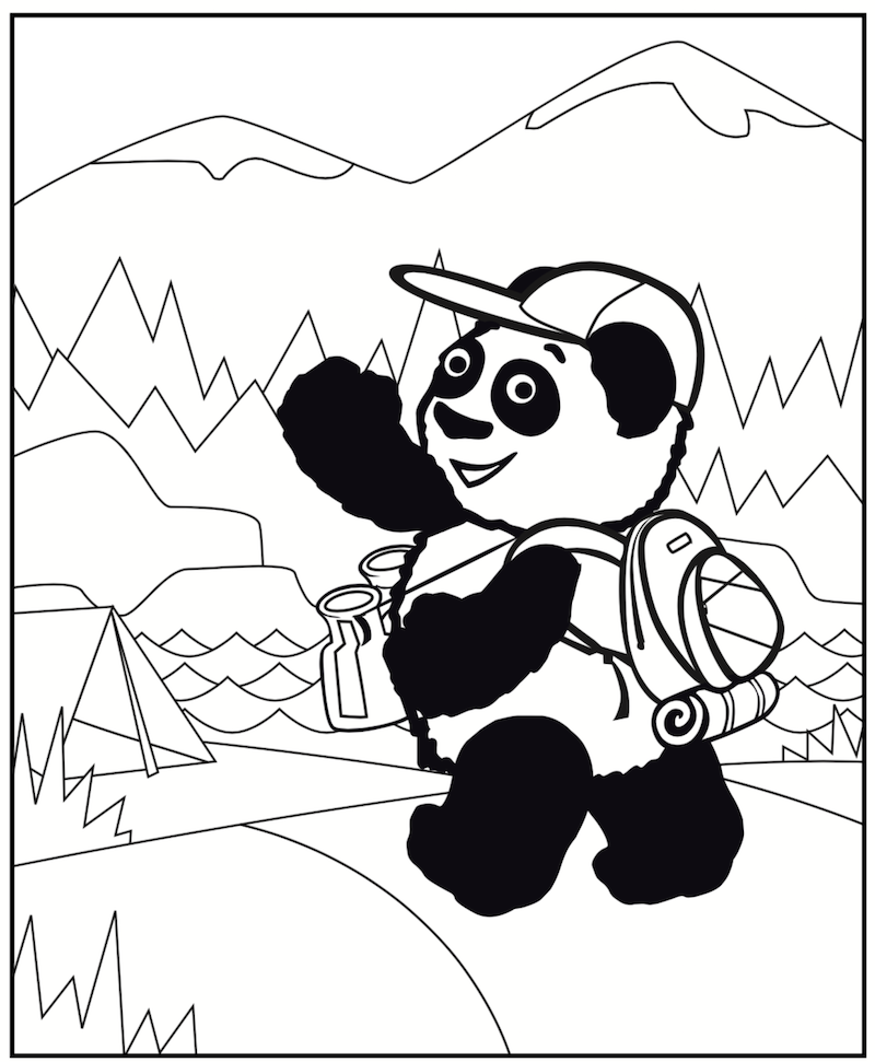 little pim summer coloring page