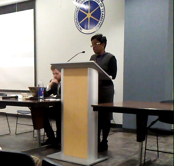 Dian Palmer, at the last Membership meeting, February 2018