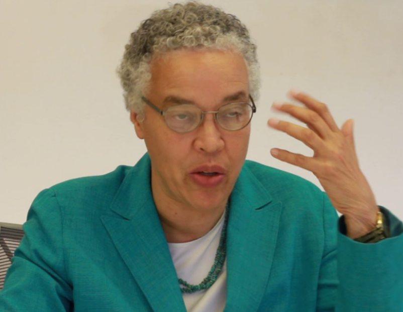 Toni Preckwinkle, Cook County President.