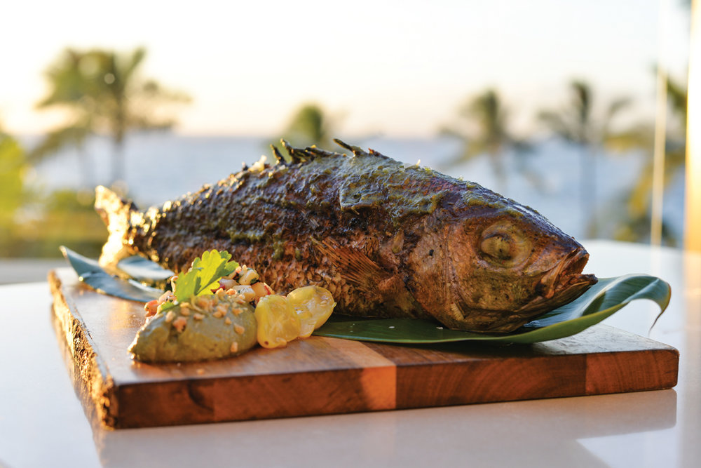 From sea to plate, the opakapaka will turn diners' heads.  Photo: Heather Ellison