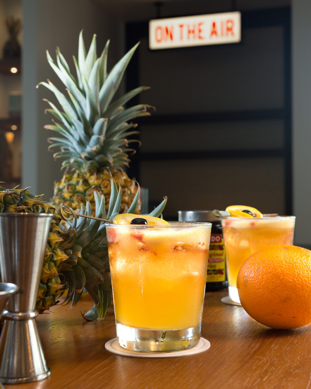 Humble Market Kitchin_ALOHA FRIDAY-Bacardi Maestro Silver Rum | Amaretto | Aperol Drizzle |-Shaken with Pineapple and Lemon__ Craig Bixel_07-2017.jpg
