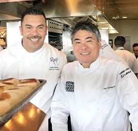Chef de Cuisine Pablo Mellin (left), and James Beard Award-winning Hawaii Chef Roy Yamaguchi will host The Future of Hawaiian Cuisine luncheon at Roy's at Pebble Beach. -- CARLA TRACY photo