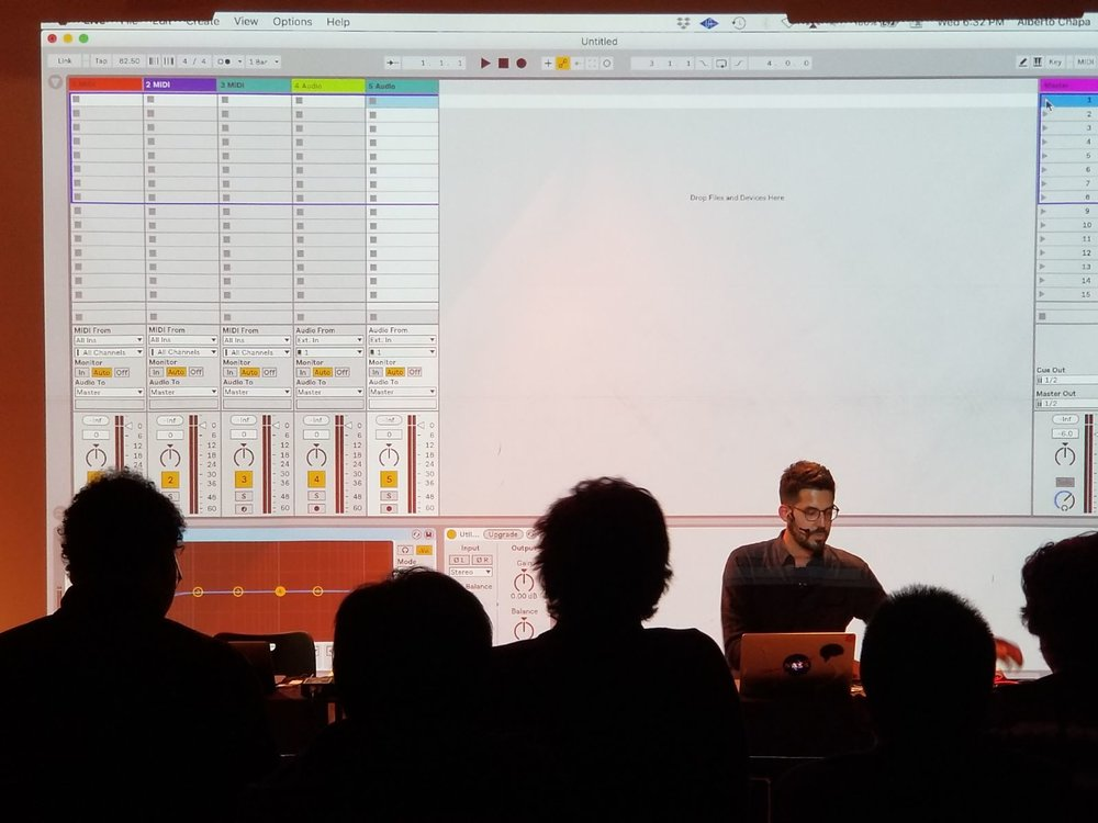 Musical Guest demonstrating Ableton Live 10 features