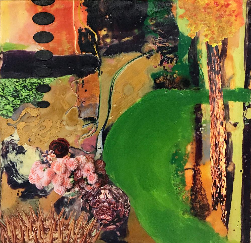 Golden Rain Tree, 10x10x1