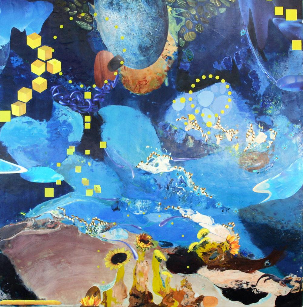 Dandelion Dreams, 36x36x1.5