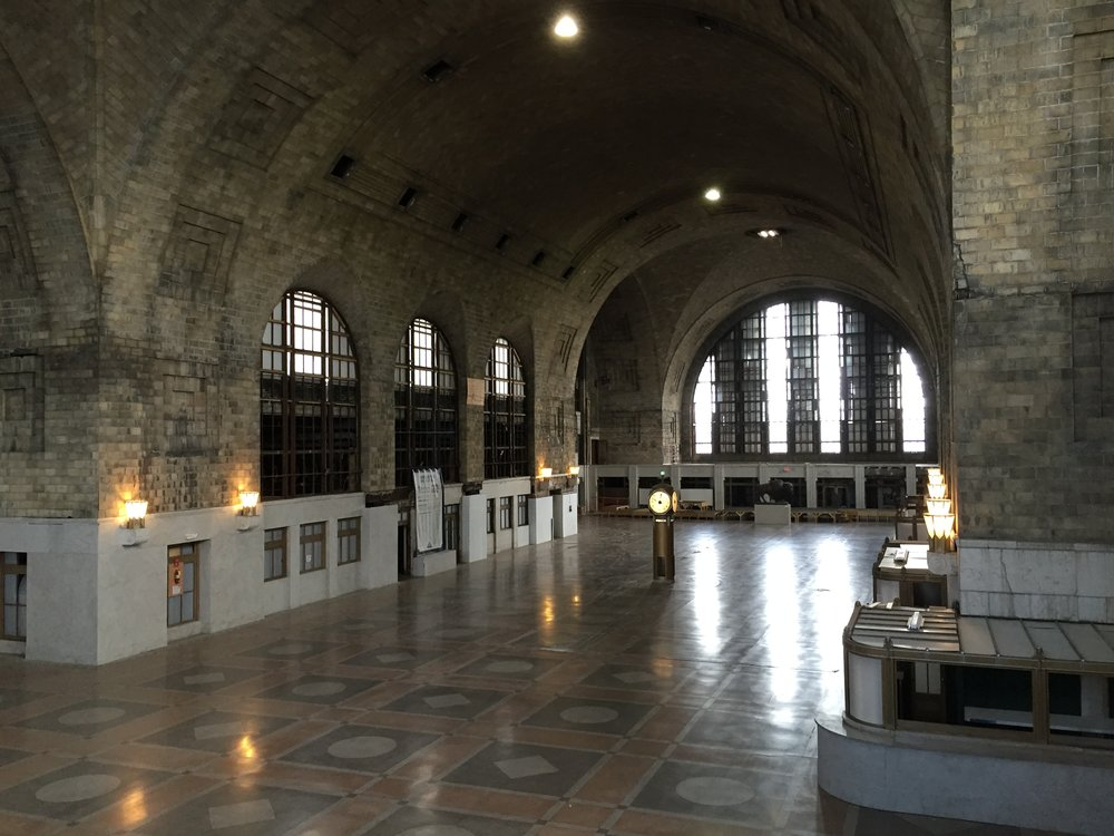 The main waiting room of Buffalo Central Terminal