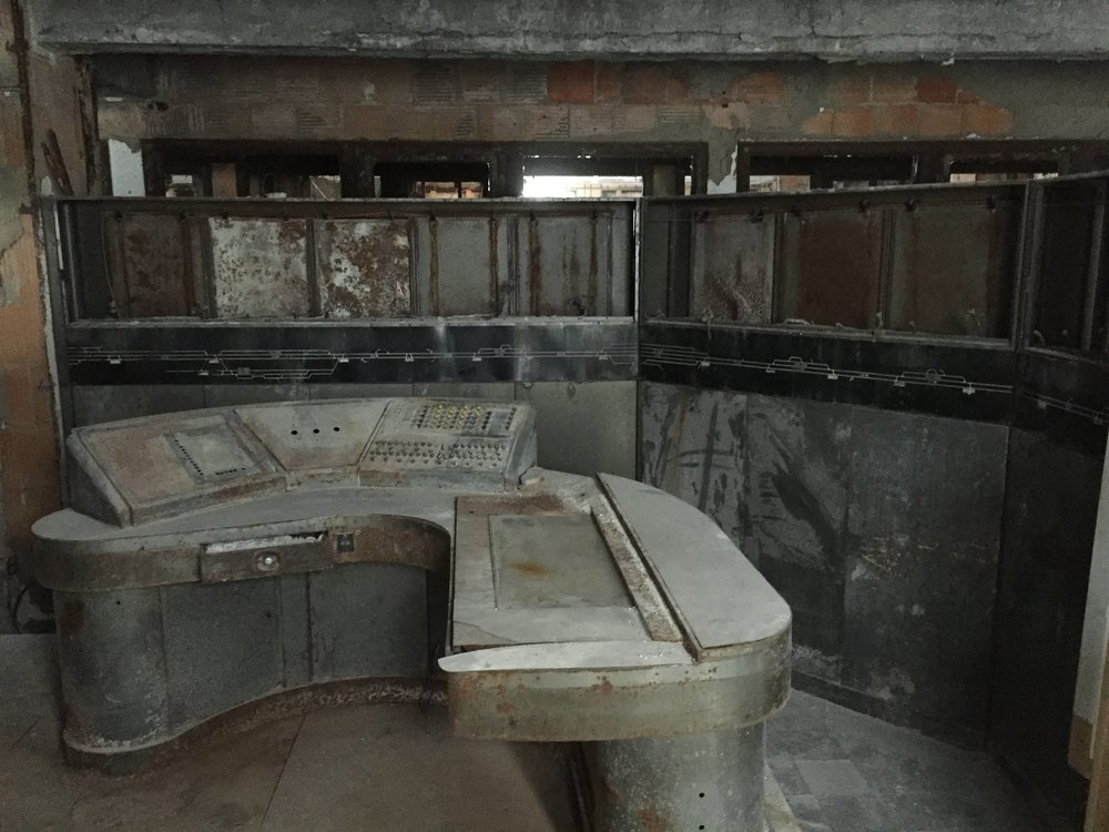 Former dispatcher console in one of the offices in Buffalo Central Terminal