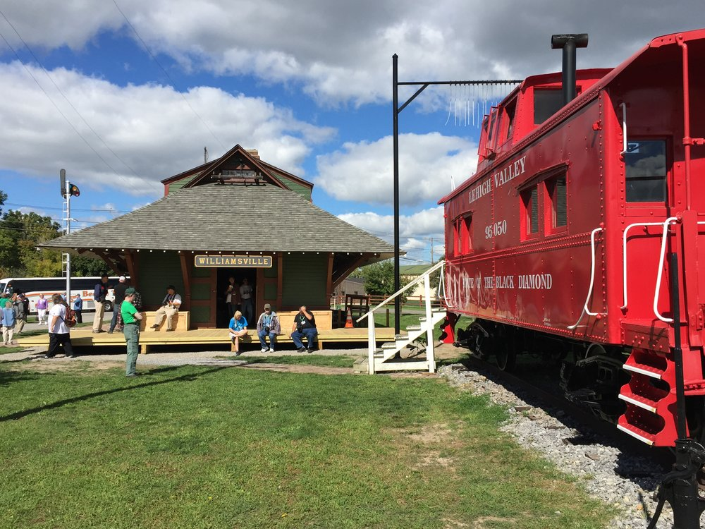 Western New York Railway Historical Society's Williamsville depot and caboose