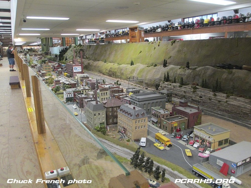 Part of the Medina Railroad Museum's model railroad
