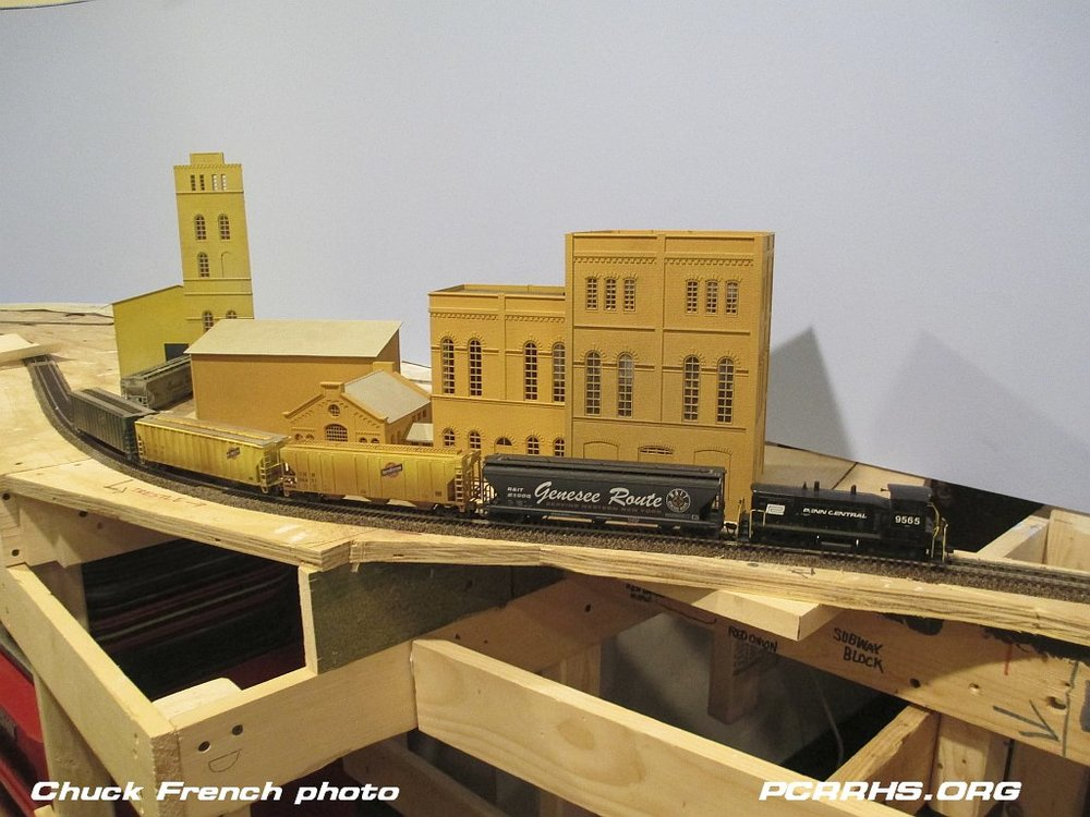 The Genesee Brewery scene on the RIT Model Railroad Club layout