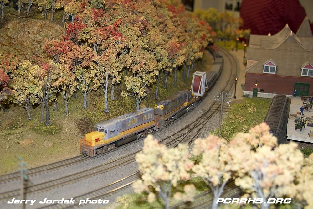 A scene from the Rochester Model Railroad Club layout