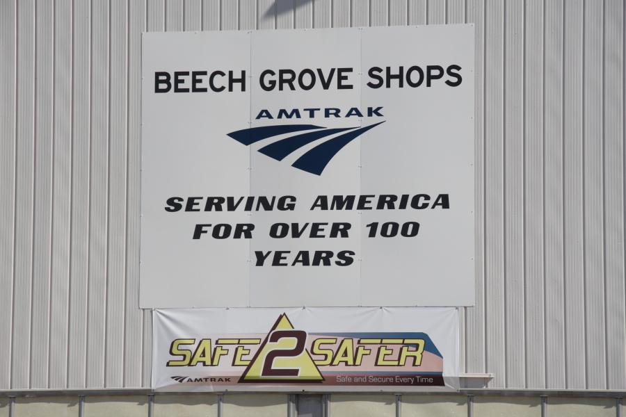 Sign outside the Beech Grove Shops