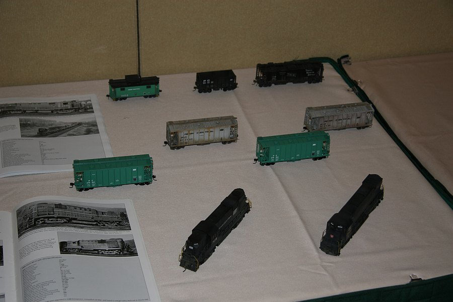 Some of the models on display