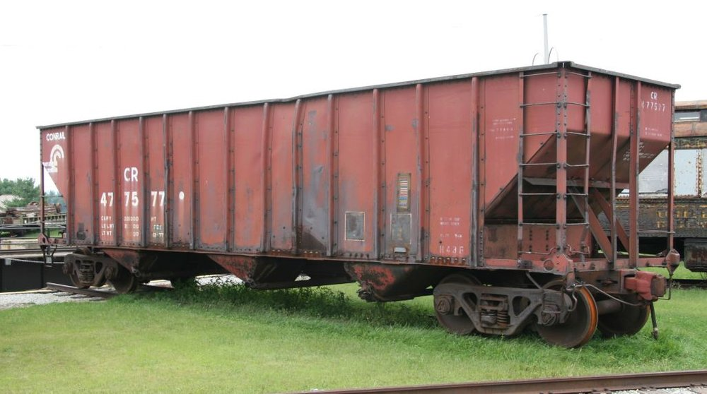 Conrail H43A hopper 477577 was originally PRR 228964