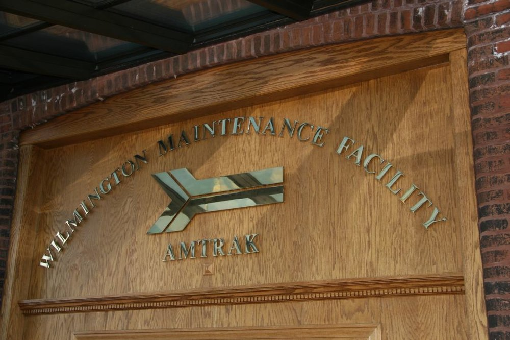 Saturday's main event was the Amtrak Wilmington Maintenance Facility tour