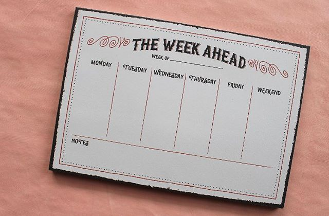 Start your year off right with our weekly planner! ✏️✔️