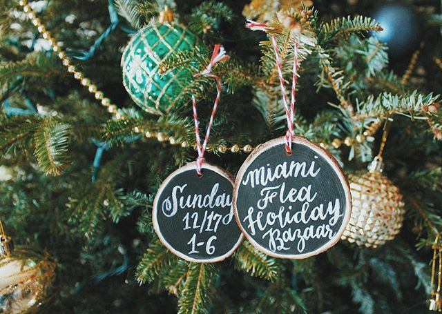 We are SO excited to be at the Miami Flea again this month! Today's the last chance to place any custom ornament orders on Etsy but orders will still be accepted during the markets this weekend!