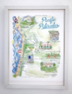 Pacific Palisades Map, $30