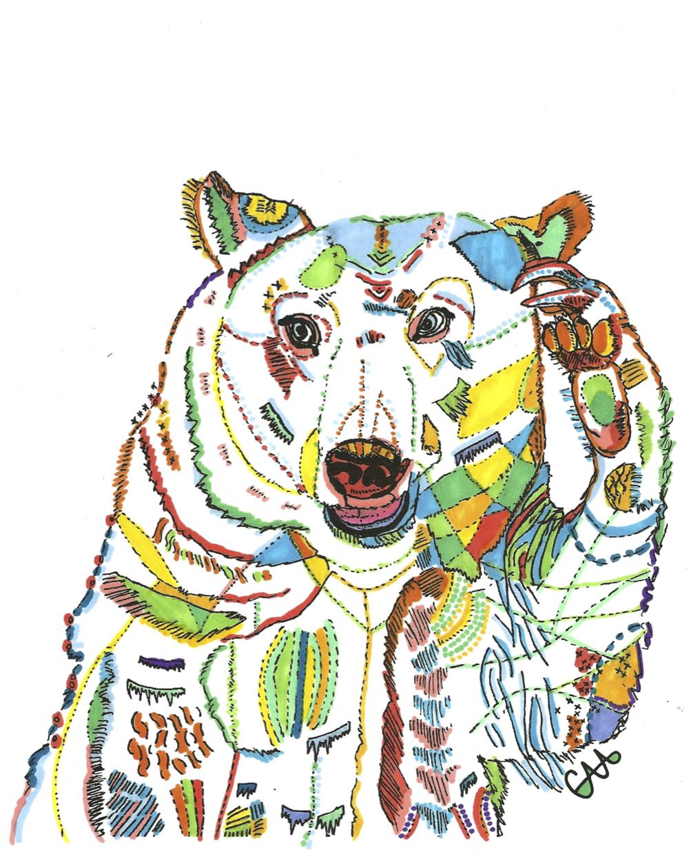 8x10 Saluting Bear Colour.png