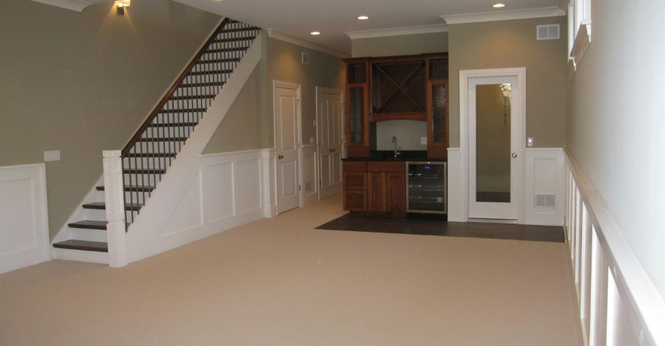 Simple Basement Designs inexpensive basement finishing ideas and basement remodeling ideas with finish basement walls Basementfinished5jpg