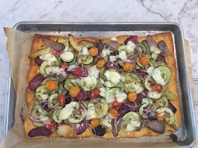All vegetable pizzette ,summer's gift!