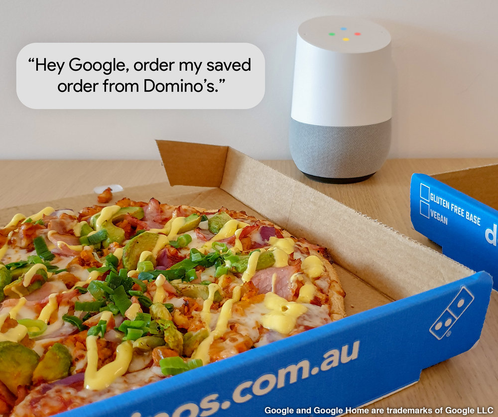 "Hey Google, ask Domino's for my last saved order"" — Domino's Newsroom"