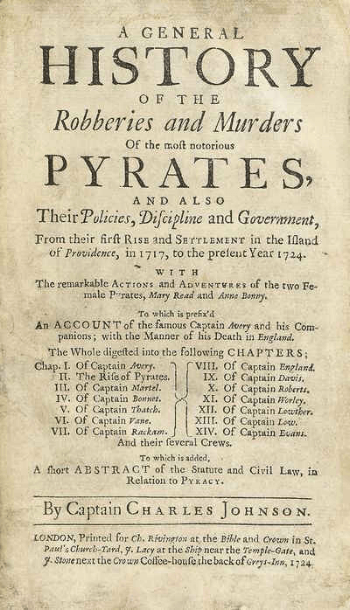 First edition cover, 1724.