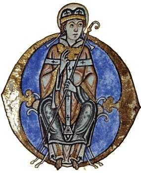 Illumination of Anselm from his manuscript of  meditations