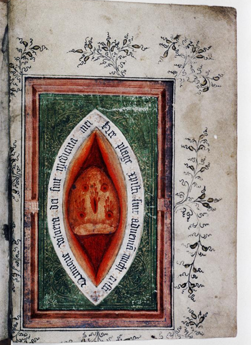 Side Wound from a Book of Hours from England and the Netherlands, 1410.