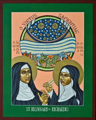 "St. Hildegard of Bingen and Her Assistant Richardis"" by Lewis Williams"