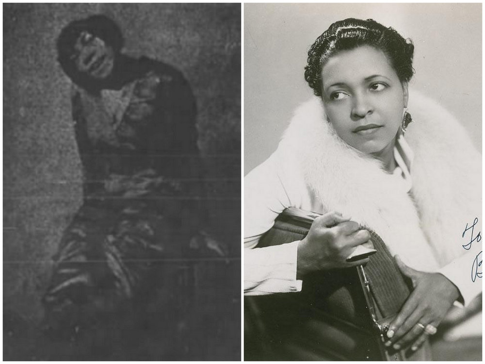 The only image we could find of both Ethel Williams (left) and Ethel Waters (Right). ( source )