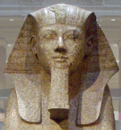 Hatshepsut with her fake beard!