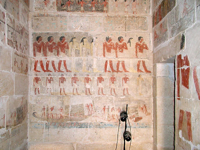 Image from the Tomb showing the family procession.