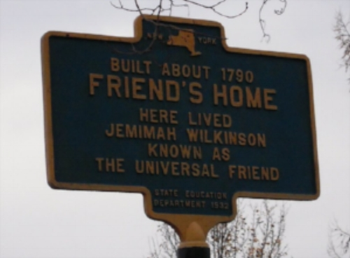 the sign outside the friend's home in jerusalem, ny. Photo courtesy of  waymarking.com
