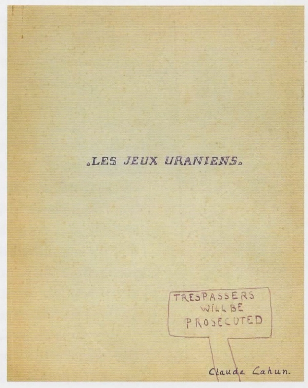 Uranian Games  manuscript cover, 1916-1918