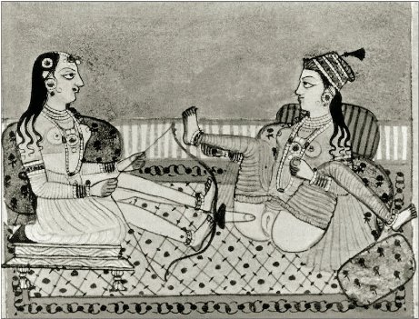 17th century, unknown Persian miniaturist depicts of sapphic women with a creative looking dildo. (thought we didn't have a lesbian emoji? surprise, now you do.)