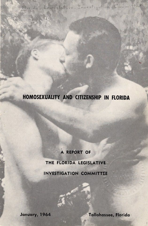 "Cover from the infamous ""Purple Pamphlet"" attempting to defame the gay community in Florida. It backfired. (Images of the Purple Pamphlet courtesy of  Queerty .)"